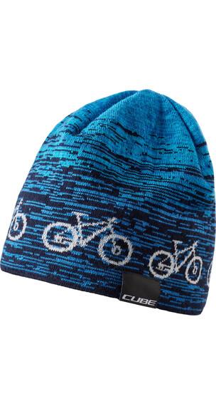 Cube Bike Beanie blue'n'white
